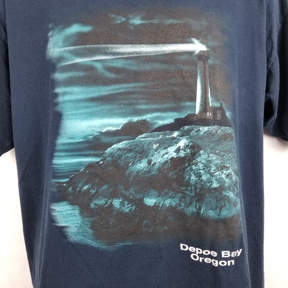 43f0dd424d Eagle Shirts | Vintage Depot Bay Oregon Lighthouse Coast T Shirt ...